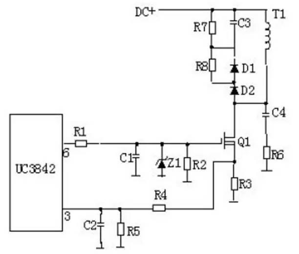 所以输入电阻可以大大提高,可达105欧姆,mos管是利用栅源电压的大小